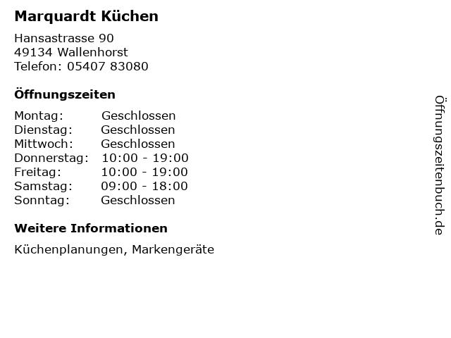ᐅ Offnungszeiten Marquardt Kuchen Hansastrasse 90 In Wallenhorst