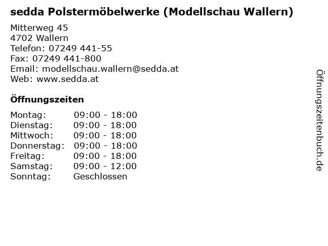 sedda Polstermöbelwerke (Modellschau Wallern) in Wallern: Adresse und Öffnungszeiten