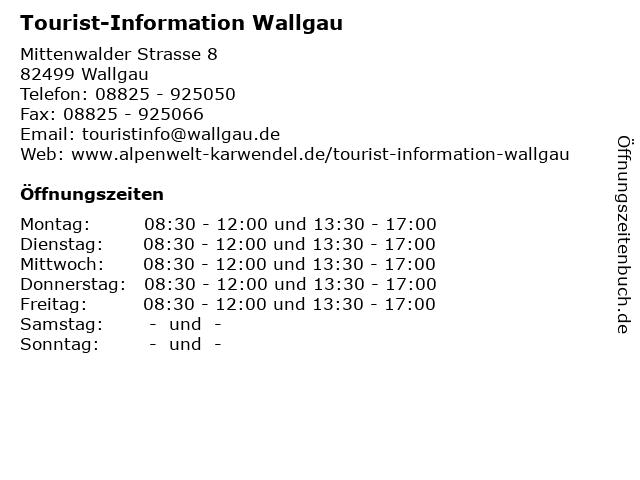 Tourist-Information Wallgau in Wallgau: Adresse und Öffnungszeiten