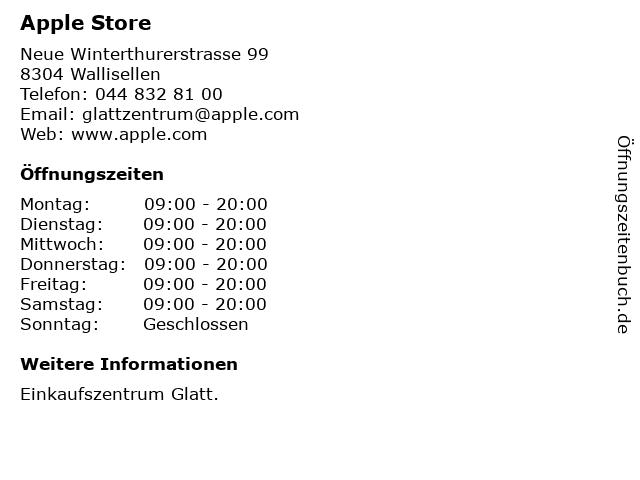 Apple Store in Wallisellen: Adresse und Öffnungszeiten