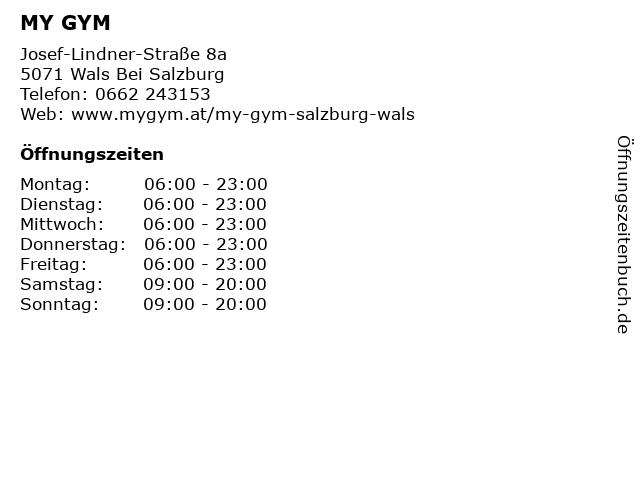 MY GYM in Wals Bei Salzburg: Adresse und Öffnungszeiten