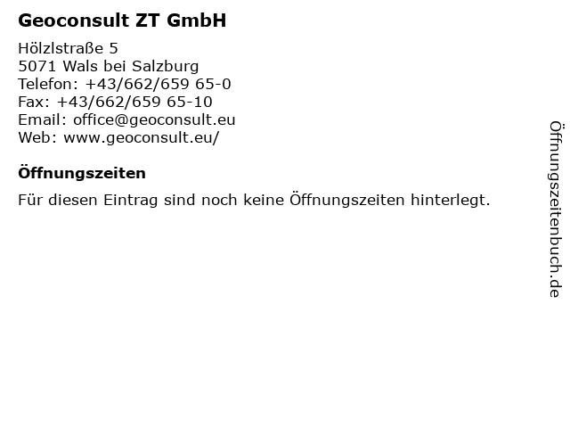 Geoconsult ZT GmbH in Wals bei Salzburg: Adresse und Öffnungszeiten
