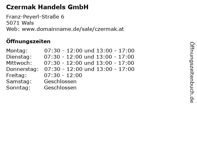 Czermak Handels GmbH in Wals: Adresse und Öffnungszeiten