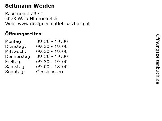 Seltmann Weiden in Wals-Himmelreich: Adresse und Öffnungszeiten