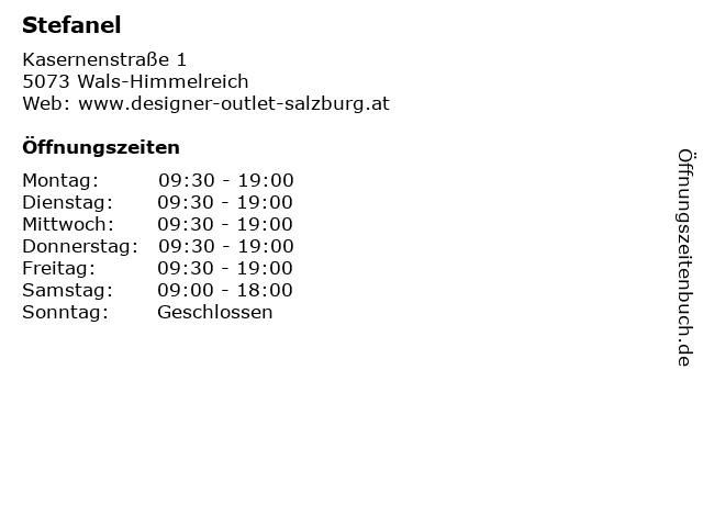 Stefanel in Wals-Himmelreich: Adresse und Öffnungszeiten