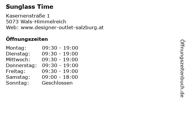 Sunglass Time in Wals-Himmelreich: Adresse und Öffnungszeiten