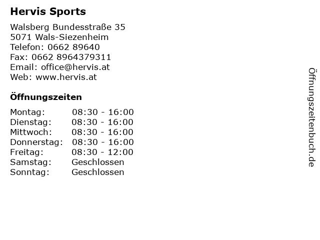 Hervis Sports in Wals-Siezenheim: Adresse und Öffnungszeiten