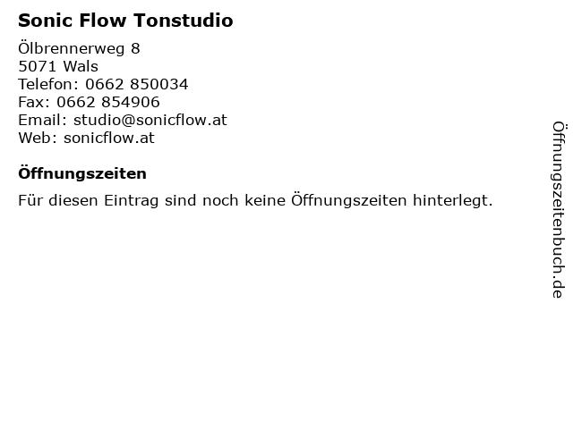 Sonic Flow Tonstudio in Wals: Adresse und Öffnungszeiten