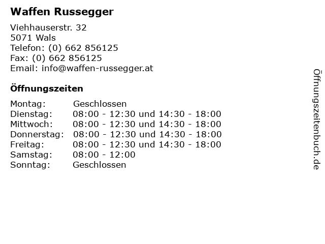 Waffen Russegger in Wals: Adresse und Öffnungszeiten