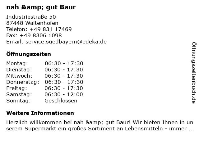 nah & gut Baur in Waltenhofen: Adresse und Öffnungszeiten