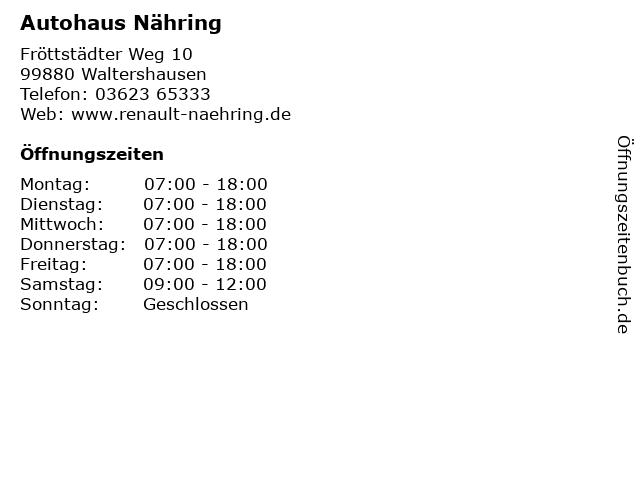Autohaus Nähring in Waltershausen: Adresse und Öffnungszeiten