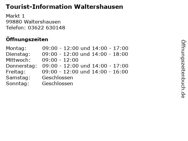 Tourist-Information Waltershausen in Waltershausen: Adresse und Öffnungszeiten