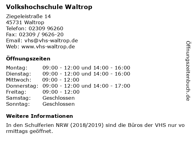 46e7b9c28ed774 Bilder zu Volkshochschule Waltrop in Waltrop