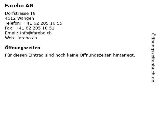Farebo AG in Wangen: Adresse und Öffnungszeiten