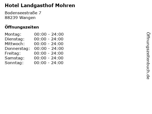 Hotel Landgasthof Mohren in Wangen: Adresse und Öffnungszeiten