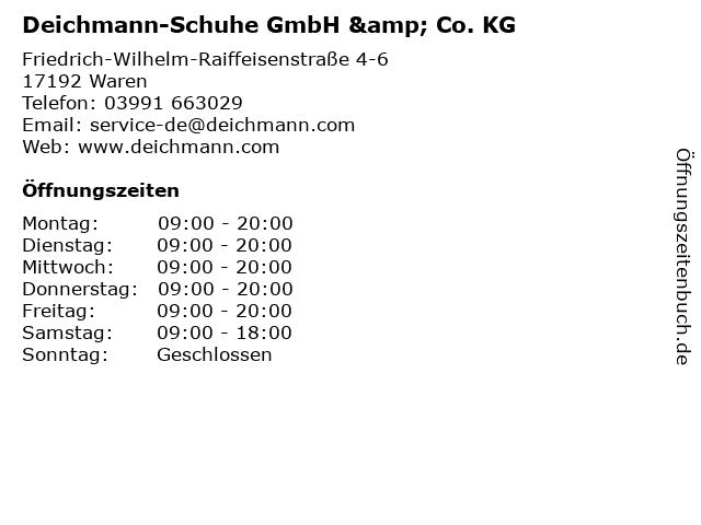 Deichmann-Schuhe GmbH & Co. KG in Waren: Adresse und Öffnungszeiten
