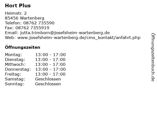 Hort Plus in Wartenberg: Adresse und Öffnungszeiten