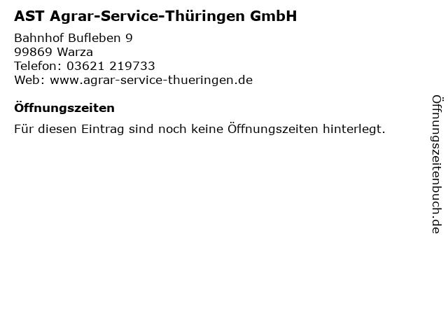 AST Agrar-Service-Thüringen GmbH in Warza: Adresse und Öffnungszeiten