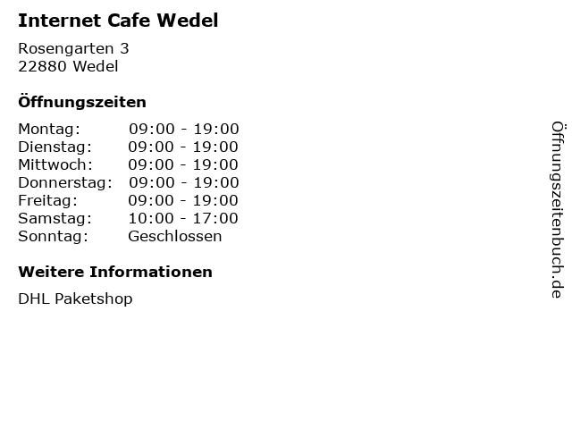 Internet Cafe Wedel in Wedel: Adresse und Öffnungszeiten