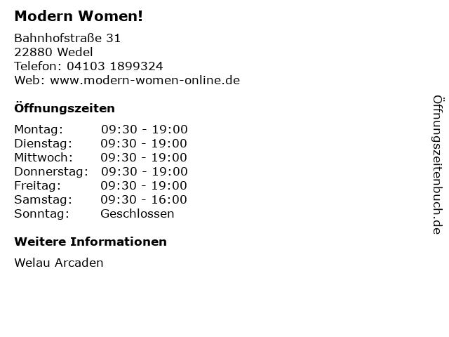 Modern Women! in Wedel: Adresse und Öffnungszeiten