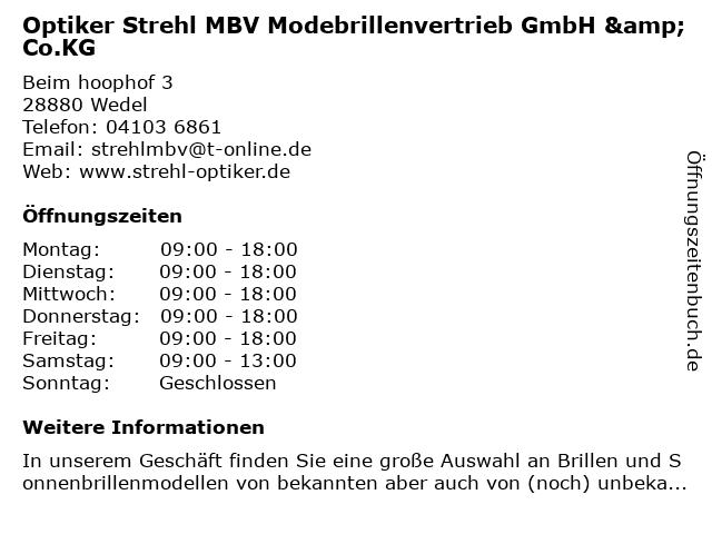 Optik Strehl in Wedel: Adresse und Öffnungszeiten