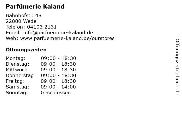 Parfümerie Kaland in Wedel: Adresse und Öffnungszeiten