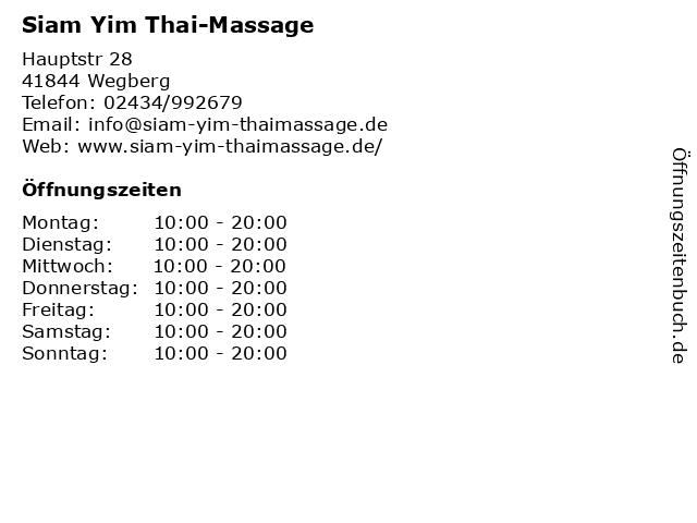 Thai massage wegberg
