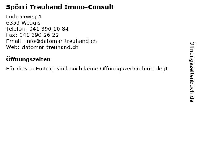 Spörri Treuhand Immo-Consult in Weggis: Adresse und Öffnungszeiten