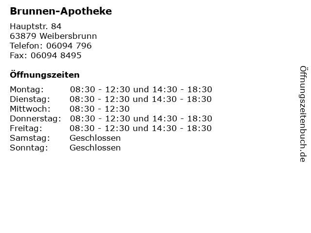 Brunnen-Apotheke in Weibersbrunn: Adresse und Öffnungszeiten
