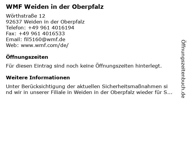WMF in Weiden in der Oberpfalz: Adresse und Öffnungszeiten