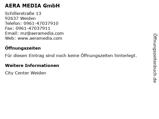 AERA MEDIA GmbH in Weiden: Adresse und Öffnungszeiten