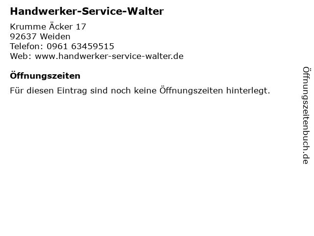Handwerker-Service-Walter in Weiden: Adresse und Öffnungszeiten