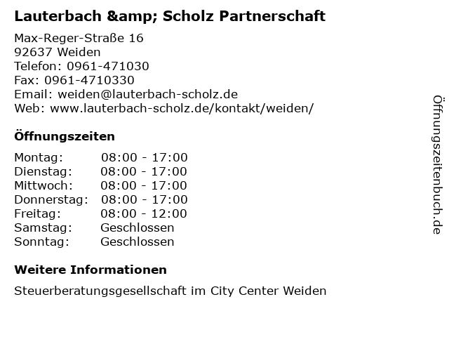Lauterbach & Scholz Partnerschaft in Weiden: Adresse und Öffnungszeiten
