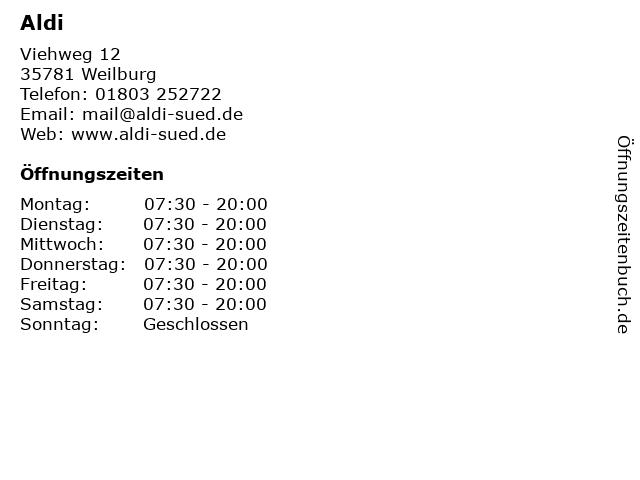 Aldi in Weilburg: Adresse und Öffnungszeiten