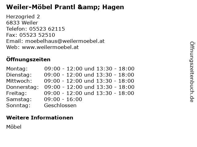 ᐅ öffnungszeiten Weiler Möbel Prantl Hagen Herzogried 2 In Weiler