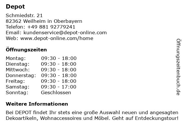 DEPOT - Gries Deco Company in Weilheim: Adresse und Öffnungszeiten
