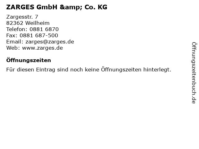 ZARGES GmbH & Co. KG in Weilheim: Adresse und Öffnungszeiten