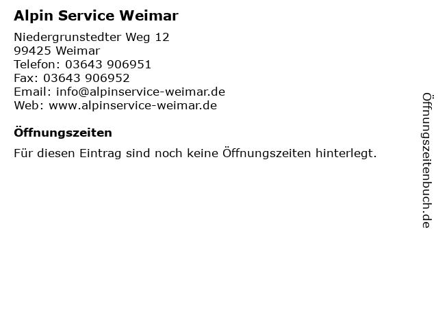 Alpin Service Weimar in Weimar: Adresse und Öffnungszeiten