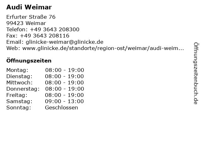 Audi Weimar in Weimar: Adresse und Öffnungszeiten