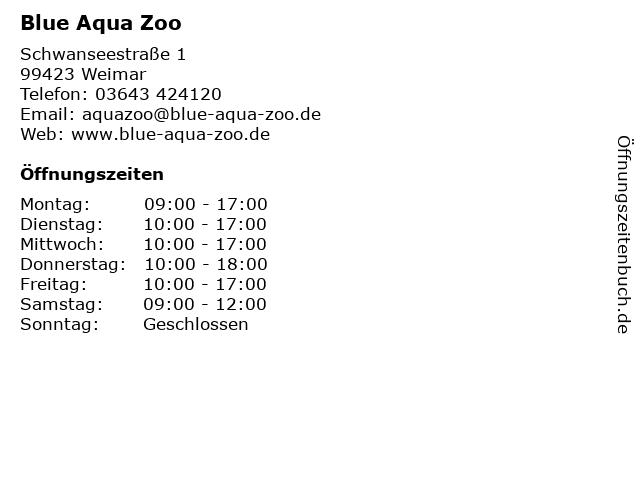 Blue Aqua Zoo in Weimar: Adresse und Öffnungszeiten