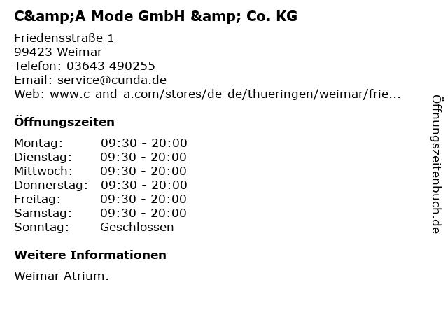 C&A Mode GmbH & Co. KG in Weimar: Adresse und Öffnungszeiten
