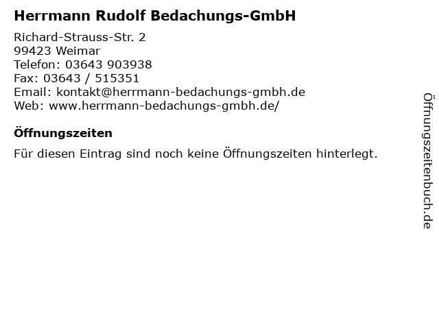 Herrmann Rudolf Bedachungs-GmbH in Weimar: Adresse und Öffnungszeiten