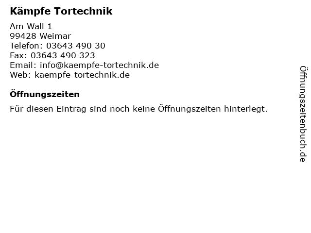 Kämpfe Tortechnik in Weimar: Adresse und Öffnungszeiten
