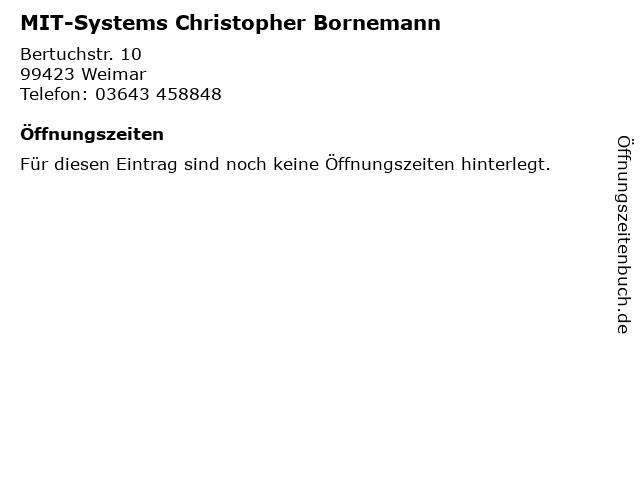 MIT-Systems Christopher Bornemann in Weimar: Adresse und Öffnungszeiten