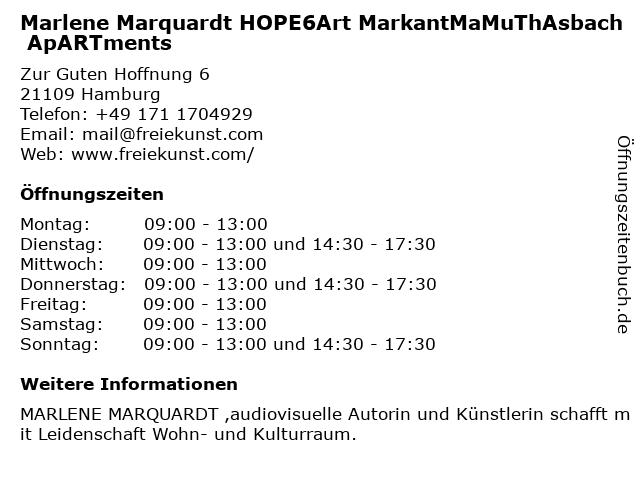 Marlene Marquardt Soul Foundation: Art Markant - MaMuTh - Markant ApARTments palma weimar in Weimar: Adresse und Öffnungszeiten