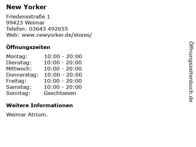 New Yorker Deutschland GmbH & Co. KG in Weimar: Adresse und Öffnungszeiten