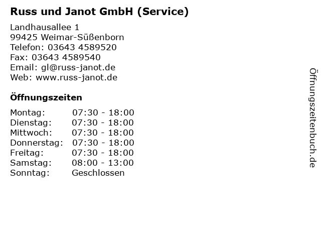 Russ und Janot GmbH (Service) in Weimar-Süßenborn: Adresse und Öffnungszeiten