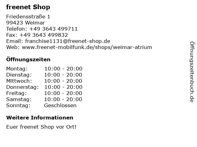mobilcom-debitel in Weimar: Adresse und Öffnungszeiten