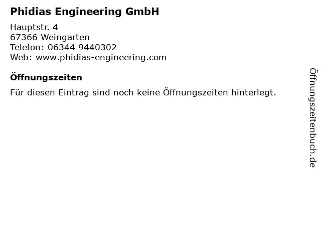 Phidias Engineering GmbH in Weingarten: Adresse und Öffnungszeiten