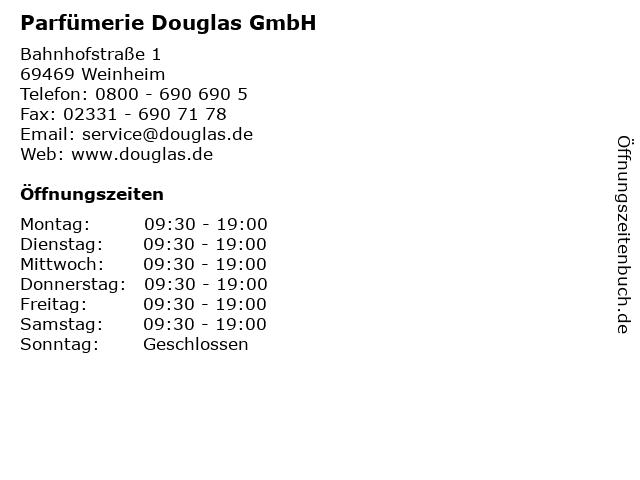 Parfümerie Douglas GmbH in Weinheim: Adresse und Öffnungszeiten